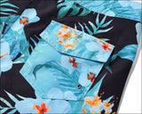 Men's Beach Board Shorts Tropical Floral Pattern Swimming Pants