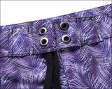 Men's Beach Board Shorts Purple Pattern Swimming Pants
