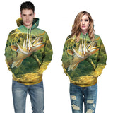 Mens Hoodies 3D Printed Fish in Deep Sea Printing Hooded