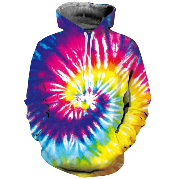 Mens Hoodies 3D Printing Vortex Printed Winter Hoodies Tracksuits