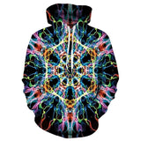 Mens Hoodies 3D Printed Cell Fission Printing Hoodies