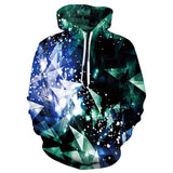 Mens Hoodies 3D Printed Diamond Hoodies Sweatshirt