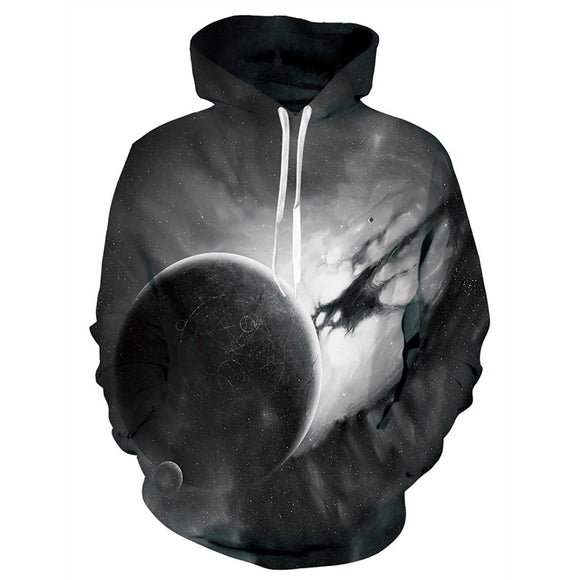 Mens Hoodies 3D Printed Space Planet Printing Hooded