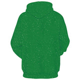 Mens Green Hoodies 3D Printed Christmas Chest Printing Hooded