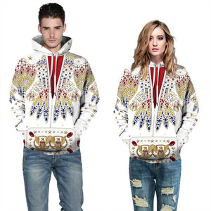 Mens Hoodies 3D Graphic Printed Diamond Bird Pullover Hoody