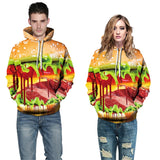 Mens Hoodies 3D Printed  Delicious Hamburger Top Shirt Costume Hoodies
