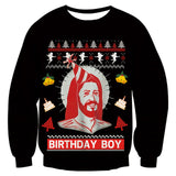 Mens Womens Black Funny Christmas Sweater