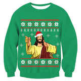 Mens Womens Funny Christmas Green Sweater
