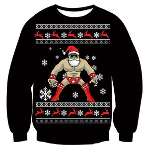 Mens Womens Funny Christmas Person Black Sweater