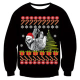Mens Black Funny Christmas Sweater