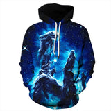 Mens Hoodies 3D Graphic Printed Galaxy Pullover