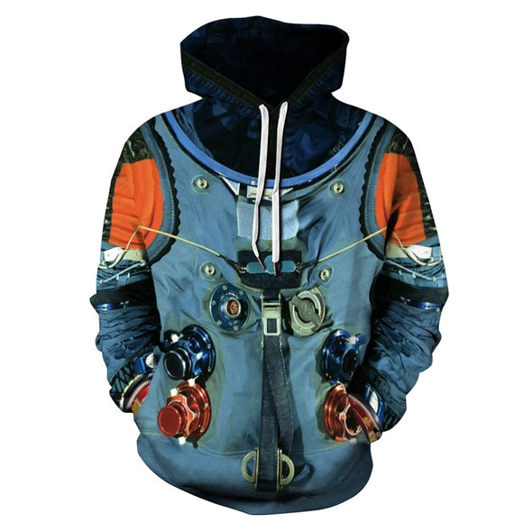 Mens Hoodies 3D Graphic Printed Aerospace Pattern Pullover