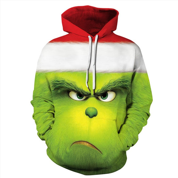 Mens Hoodies 3D Graphic Printed The Grinch Movie Pullover