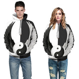 Mens Hoodies 3D Graphic Printed Wing Pattern Pullover Hoodie