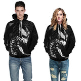 Mens Hoodies 3D Graphic Printed Venom Black Pullover Hoodie