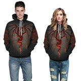 Mens Hoodies 3D Graphic Printed World of Warcraft Pullover Hoodie