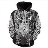 Mens Hoodies 3D Graphic Printed Viking Myth Pullover Hoodie