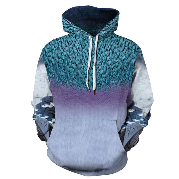 Mens Hoodies 3D Graphic Printed Abstract Eagle Pullover Hoodie