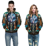 Mens Hoodies 3D Graphic Printed Indian Style Pullover