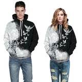 Mens Hoodies 3D Graphic Printed Astronaut Pullover