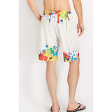 Raisevern Colorful Rainbow Spatter Graffiti Beach Board Shorts