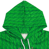 Mens Green Hoodies 3D Graphic Printed Merry Christmas Cool Deer Pullover