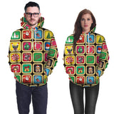 Mens Colorful Hoodies 3D Graphic Printed Merry Christmas Holiday Pullover