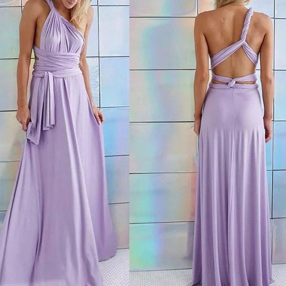 Bridesmaid Multiway Dresses Wedding Party Purple Color