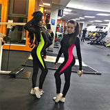 Women Sports Suit Yoga Gym One Piece Black Jumpsuit