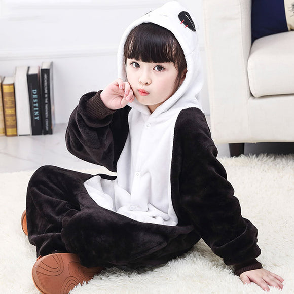 Child Romper Cute Panda Costume for Kids Onesie Pajamas for Girls Boys