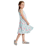 Toddler Girls Summer Dress Flamingo Sleeveless Casual Dress