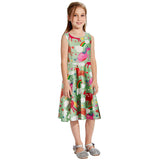 Toddler Girls Summer Dress Rainbow Unicorn Sleeveless Casual Dress