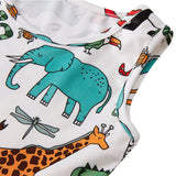 Toddler Girls Summer Animal World Dress