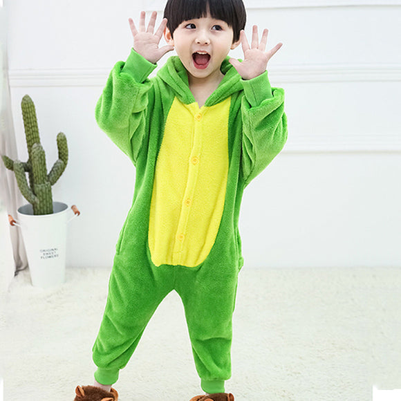 Child Romper Yellow Green Costume for Kids Onesie Pajamas for Girls Boys