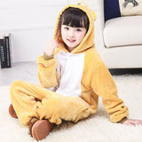 Child Romper Cute Bear Costume for Kids Onesie Pajamas for Girls Boys