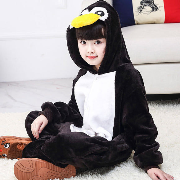 Child Romper Cute Penguin Costume for Kids Onesie Pajamas for Girls Boys