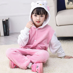 Child Romper Kitty Cat Costume for Kids Onesie Pajamas for Girls Boys