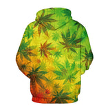 Men's Weed Leaf Hoodies Sweatshirt