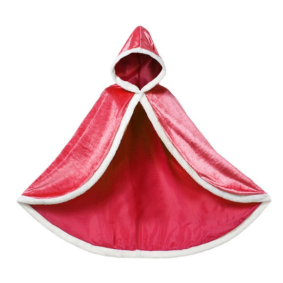 Girls Classic Cloak Red Cosplay Costume Elena of Avalor Adventure Halloween Ball Gown Outfits