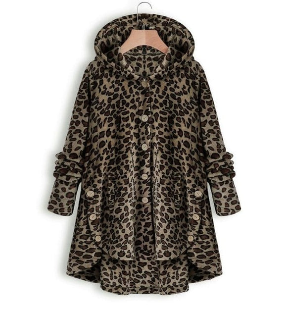 Women Plus Size Faux Fur Overcoats
