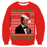 Mens Red Funny Christmas Sweater