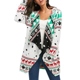 Womens Tunic Knitted Sweaters Xmas Cardigan