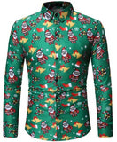 Fashion Christmas Men Dress Shirt