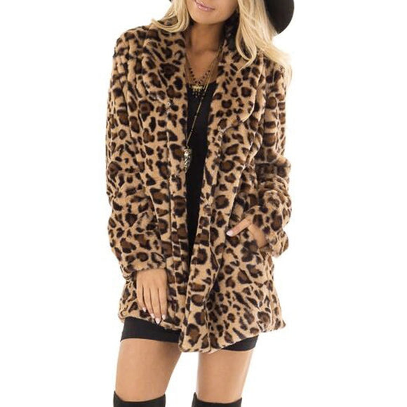 Women Faux Fur Warm Coats