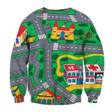 Mens Hoodies Cartoon Game Map Sweatshirt 3d Print Funny Pullover