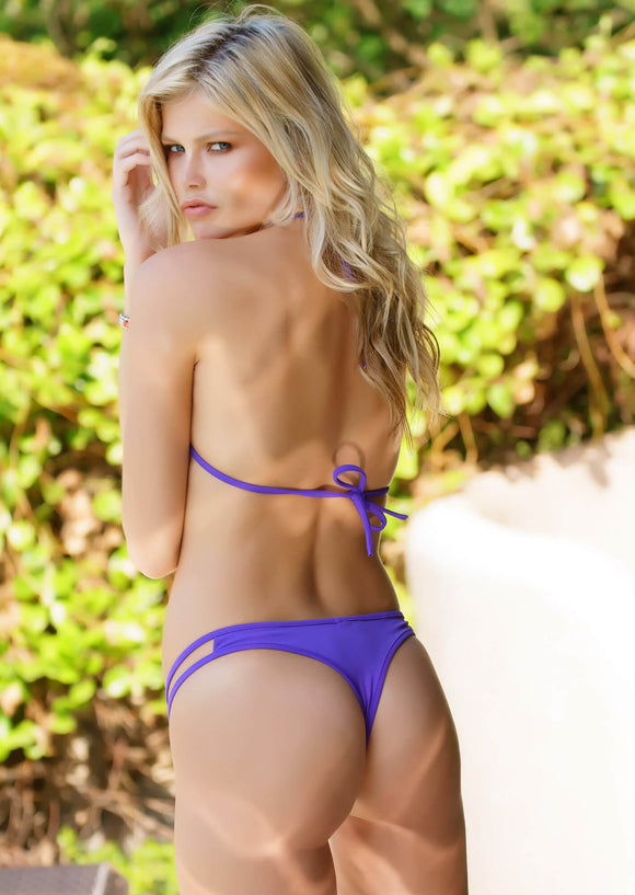 Hipster Thong Bikini Bottom in Bright Violet