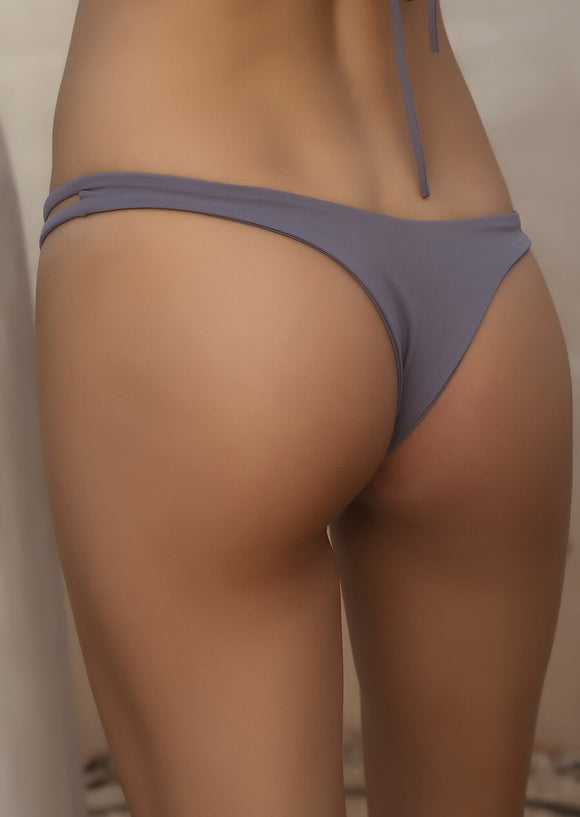 Seamless Cheeky Thong Bottom in Grey Washed Purple