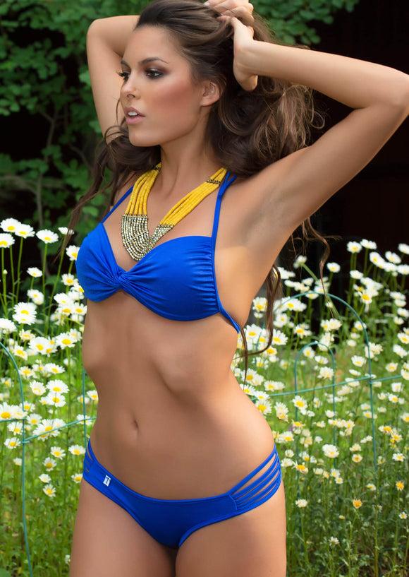 5-String Shortie Bikini Bottom in Royal Blue