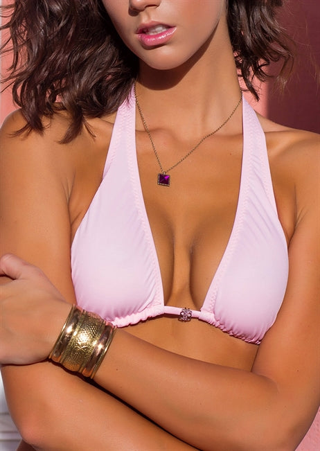 Halter Triangle in Light Pink