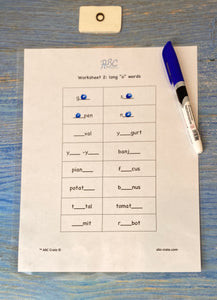 "Phonograms Kit 2 ""o"" sounds:  ow, oe, oa, long ""o"", and o with silent e"